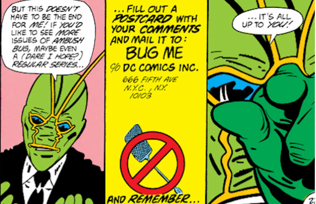 Contact Ambush Bug Comics Stuff